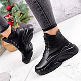 Ботинки женские Unnik черные кожа 2617, фото 8