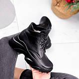 Ботинки женские Unnik черные кожа 2617, фото 10
