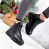 Ботинки женские Unnik черные кожа 2617, фото 9