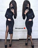 Платье миди с высоким разрезом, (40-46рр), фото 1