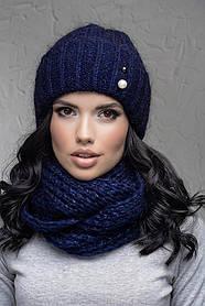 Комплект (шапка и снуд-хомут) Flirt Лика-Морган One Size синий