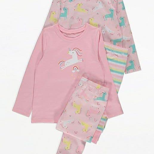 Пижама детская единорог George 128-135 см 2 комплекта