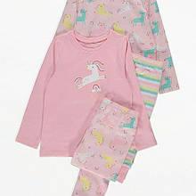 Пижама детская единорог George 135-140см 2 комплекта