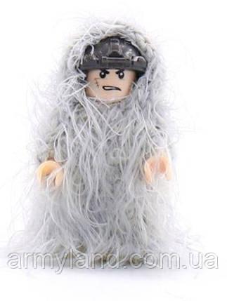 Маскировка белая, 1шт.  аксессуары для конструктора  Лего, фото 2