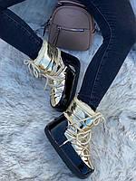 Сапоги луноходы женские зимние 6 пар в ящике золотистого цвета 36-41, фото 4