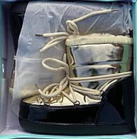 Сапоги луноходы женские зимние 6 пар в ящике золотистого цвета 36-41, фото 6