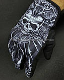 Мото перчатки VEMAR (череп), фото 5