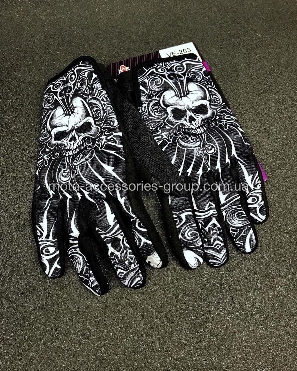 Мото перчатки VEMAR (череп)