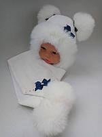 Шарф шапка для грудничков девочка, фото 1