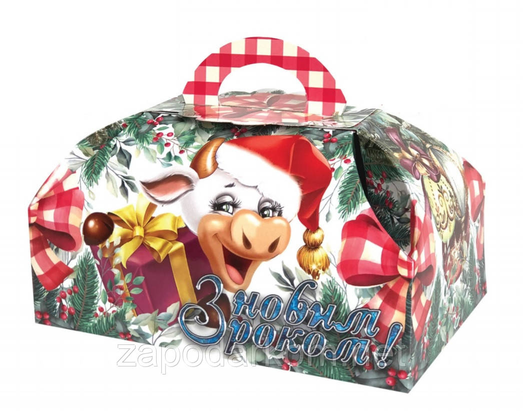Упаковка з картону Скриня Бичок для цукерок і подарунків на 500-600 г