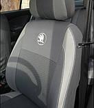Авточехлы Ника на Skoda Octavia III А7 2013- з/сп раздельная Nika  шкода октавия, фото 4