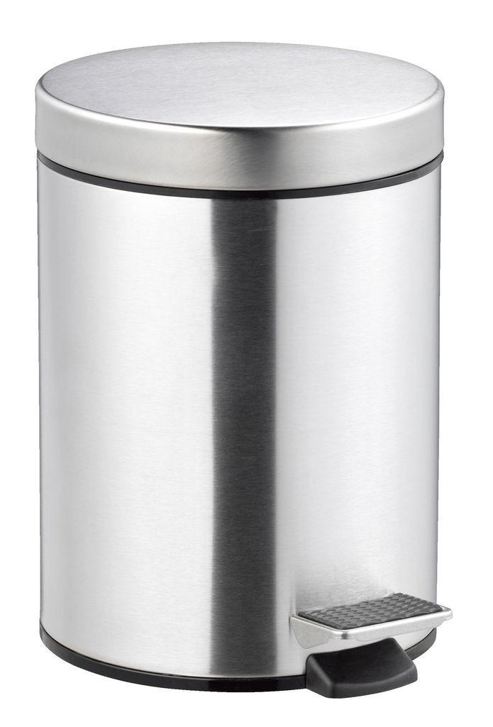 Ведро для ванной комнаты 5 литров с педалью и крышкой (метал) сталь