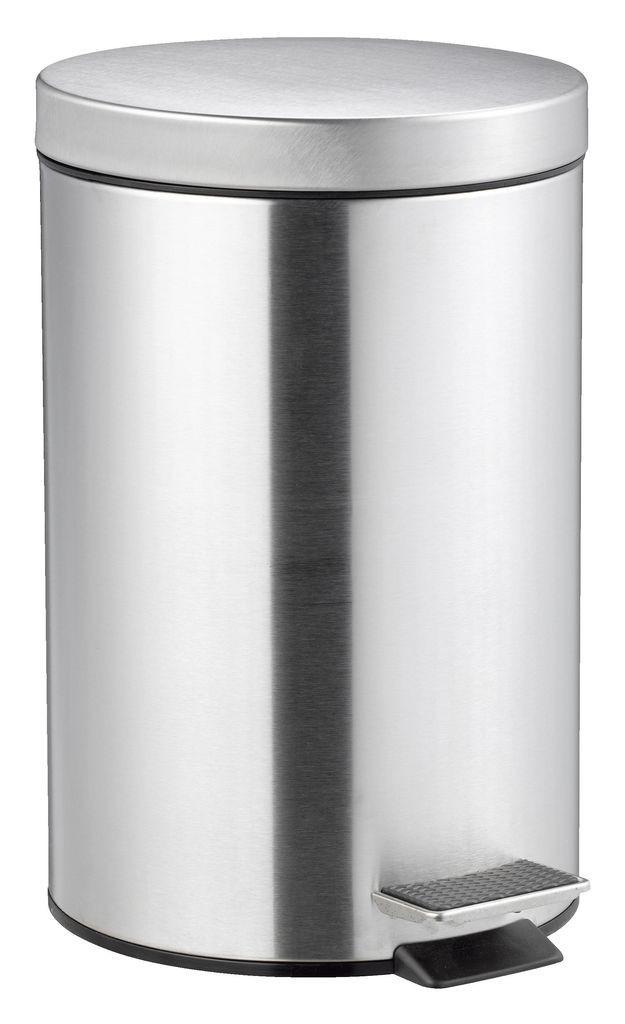 Ведро для ванной комнаты 12 литров с педалью и крышкой (метал) сталь