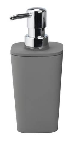 Дозатор - Диспенсер  для жидкого мыла механический серый пластик, фото 2
