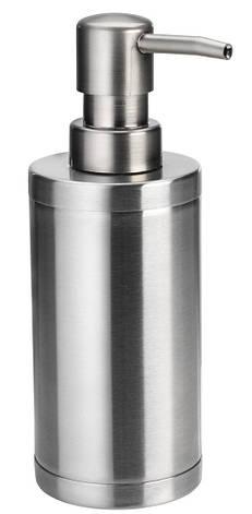 Дозатор для рідкого мила механічний металевий (Диспенсер ), фото 2