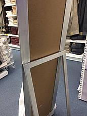 Напольное большое зеркало с ножкой 160 см серебро, фото 2