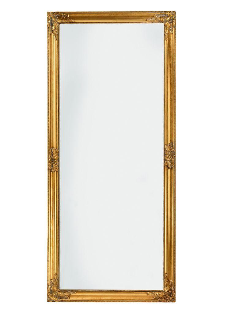 Большое зеркало настенное  с деревянной рамкой 162 см золото