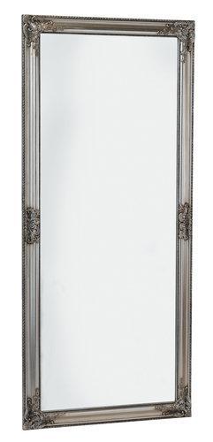Большое зеркало настенное  с рамкой 162 см серебро