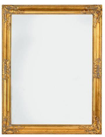 Зеркало настенное с деревянной рамкой 70х90 см золото, фото 2