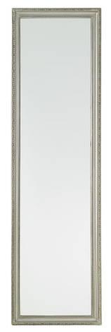 Зеркало настенное длинное с рамкой из дерева 124 см серебро , фото 2