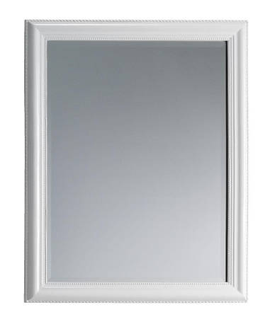 Зеркало настенное  с деревянной рамкой 70x90 см белое, фото 2