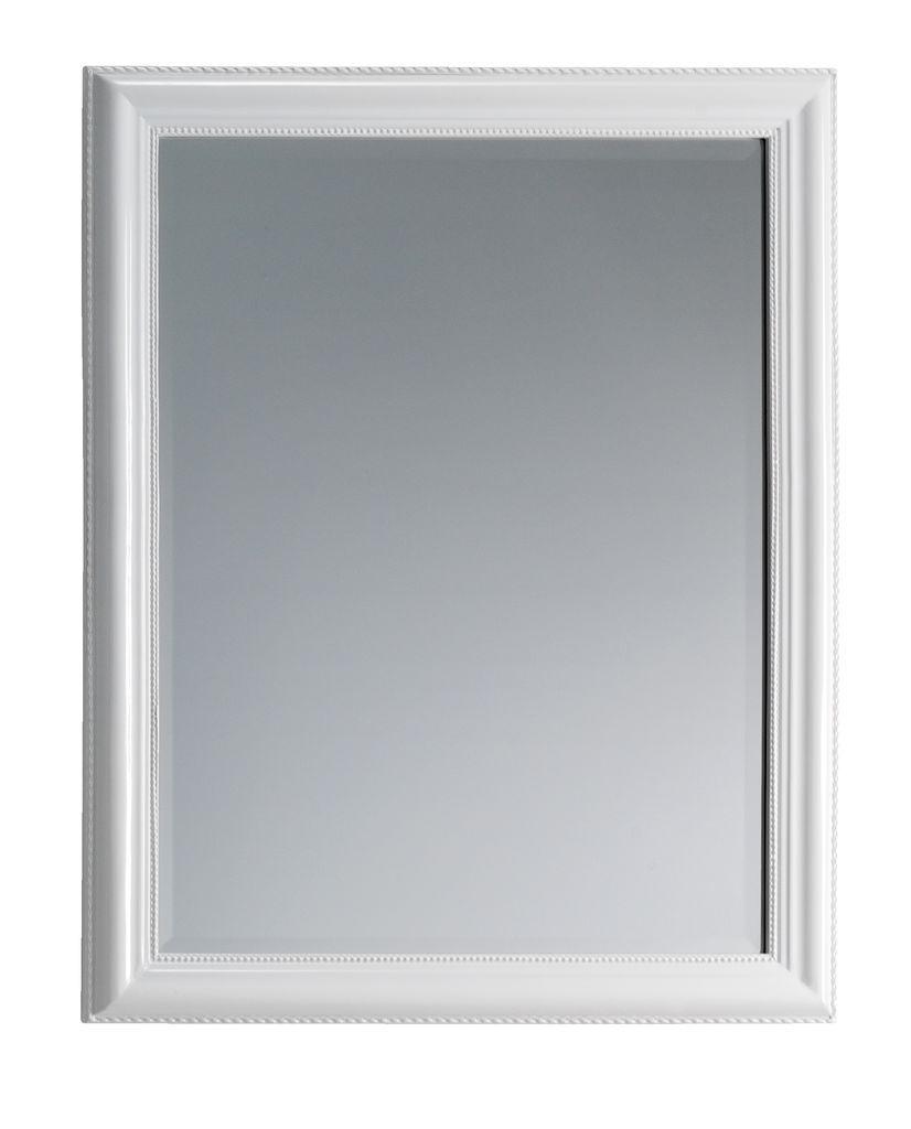 Зеркало настенное  с деревянной рамкой 70x90 см белое