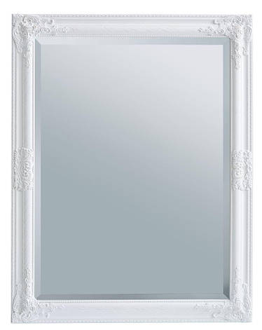 Зеркало настенное с деревянной рамкой 70х90 см белое, фото 2