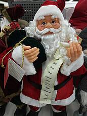Новогодняя Игрушка Санта Клаус большой 80 см (Дед Мороз) с подарками, фото 3