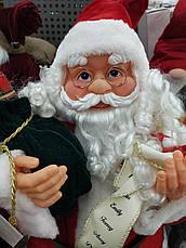 Новогодняя Игрушка Санта Клаус большой 80 см (Дед Мороз) с подарками, фото 2