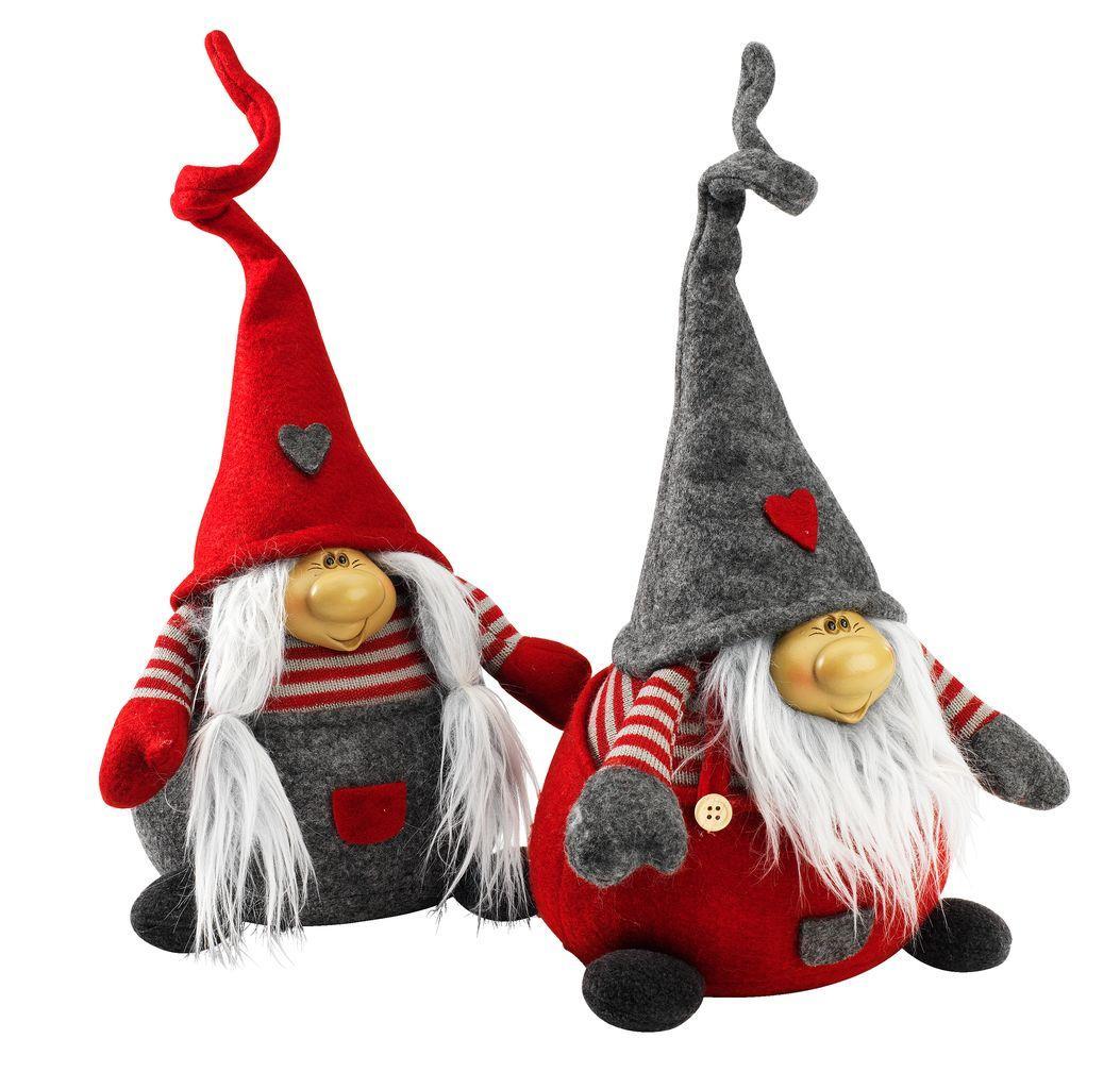 Новогодняя игрушка Эльф высота 35 см ассортименте