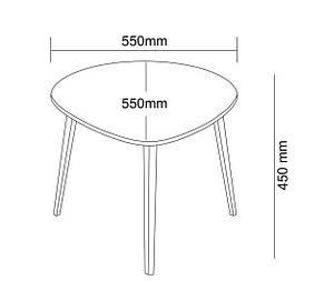 Столик приставной (табурет)  белый, фото 2