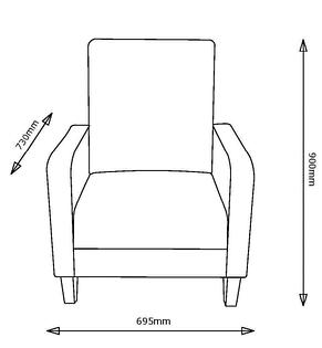 Крісло м'яке пісочне, фото 3