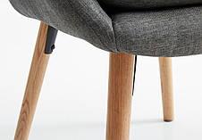 Стильное серое кресло тканевое , фото 2
