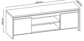 Тумба під телевізор з двома нижніми ящиками, фото 3