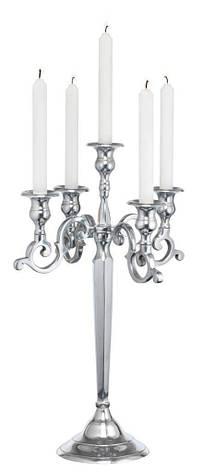 Підсвічник на 5 свічок висота 52 см з алюмінію, фото 2