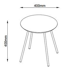 Столик журнальный круглый диаметр 40см (цвет дуб), фото 3