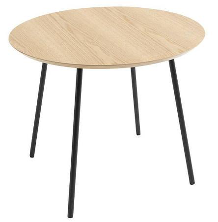 Столик журнальный круглый диаметр 45 см (цвет дуб), фото 2