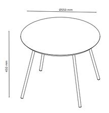 Столик журнальный круглый диаметр 45 см (цвет дуб), фото 3