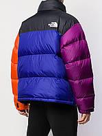 Куртка пуховик зимняя мужская теплая цветная TNF Multicolor натуральный теплый брендовый спортивный