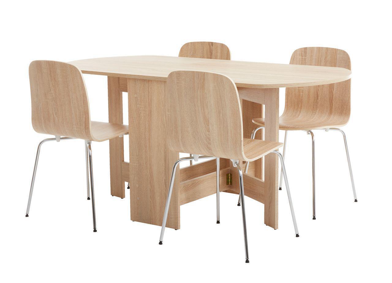 Комлект кухонный ( стол раскладной + 4 стула) светлый