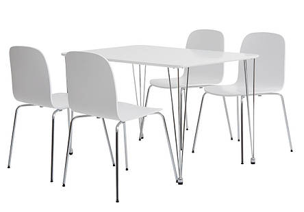 Комлект кухонный ( стол 120 см + 4 стула ) белые, фото 2