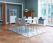Комлект кухонный ( стол 120 см + 4 стула ) белые, фото 3