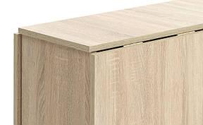 Обеденный стол раскладной 80x163см матовий дуб, фото 2