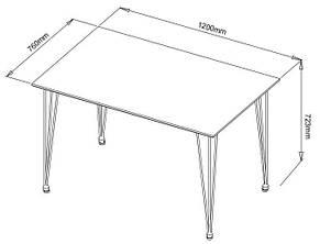 Обеденный стол прямоугольный белый хром, 120см , фото 2
