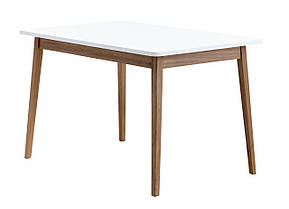 Стол обеденный белый с темными ножками 120 см, фото 2