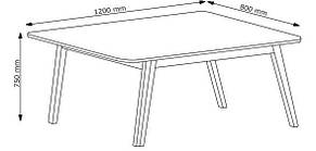 Стол обеденный белый с темными ножками 120 см, фото 3