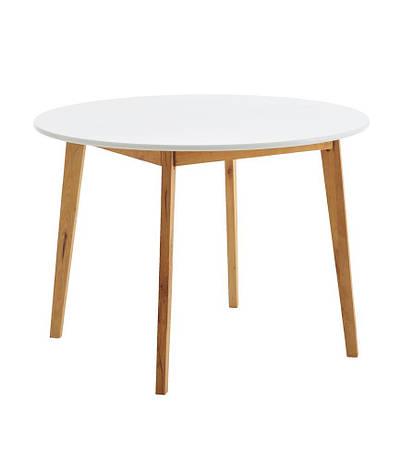 Обеденный стол круглый натура / белый (диаметр 105 см), фото 2