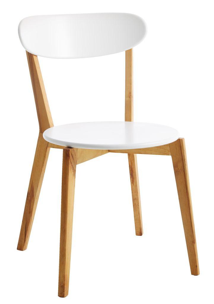Стул деревянный белый стильный (ножки массив)