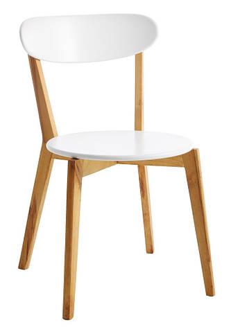 Стул деревянный белый стильный (ножки массив) , фото 2