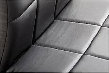 Стул кожаный черный стильный (металлические ножки), фото 2